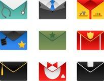 Occupation envelopes set. Vector illustration of occupation envelopes Royalty Free Stock Images