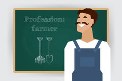 Occupation farmer worker profession. Vector Stock Image
