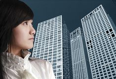 Occupation female in China. royalty free stock photo