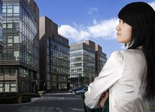 Occupation female in China. stock photo