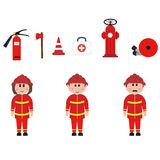 Occupation, firefighters Royalty Free Stock Images