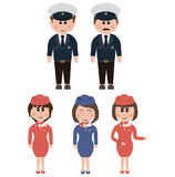 Occupation, flight attendants Royalty Free Stock Images