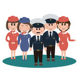 Occupation, flight attendants Stock Photo