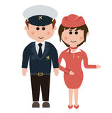 Occupation, flight attendants Royalty Free Stock Photography