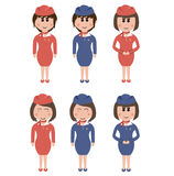 Occupation, flight attendants Royalty Free Stock Photo