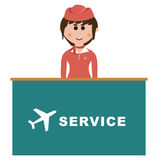 Occupation, flight attendants Stock Photos