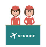 Occupation, flight attendants Stock Images