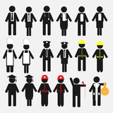 Occupation Icon Set Royalty Free Stock Image