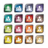 Occupation Icons Royalty Free Stock Photo