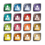 Occupation Icons Stock Image