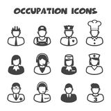 Occupation icons. Mono vector symbols Royalty Free Stock Image