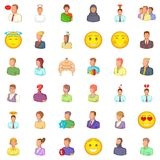 Occupation icons set, cartoon style. Occupation icons set. Cartoon style of 36 occupation vector icons for web isolated on white background Royalty Free Stock Photos
