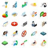 Occupation icons set, isometric style Stock Image