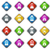 Occupation icons set Stock Image