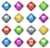 Occupation icons set Royalty Free Stock Images