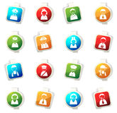 Occupation icons set Royalty Free Stock Photography