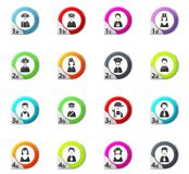 Occupation icons set Stock Photo