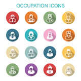 Occupation long shadow icons Royalty Free Stock Photo