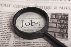 Occupation. Job search employment issues job classified ad unemployment searching Stock Photos