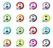 Occupation and People icons set Stock Photo