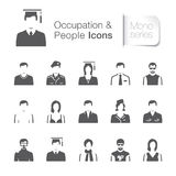 Occupation & people related icons Stock Photography