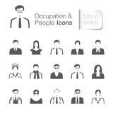 Occupation & people related icons. Come with layers Royalty Free Stock Image