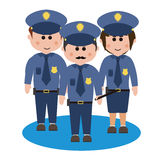 Occupation, police Royalty Free Stock Photography