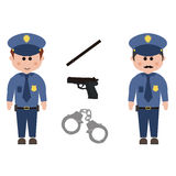 Occupation, police Royalty Free Stock Photo