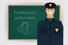 Occupation policeman profession. Vector Royalty Free Stock Image