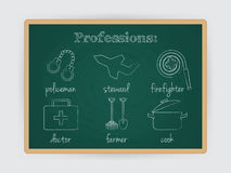 Occupation set, job profession. Vector Royalty Free Stock Images