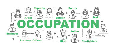 Occupation vector banner Stock Image