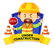 Occupation wordcard with word under construction Stock Images