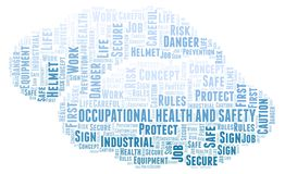 Occupational Health And Safety word cloud. Word cloud made with text only vector illustration