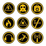 Occupational safety and health icons royalty free illustration