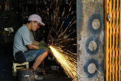 Occupational safety in heavy industry is crucial and can`t be tolerate. Royalty Free Stock Photo