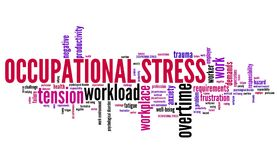 Occupational stress Stock Image