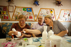 Occupational therapy for eldery Stock Photography
