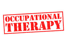OCCUPATIONAL THERAPY. Red Rubber Stamp over a white background Royalty Free Stock Photos