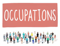 Occupations Career Job Employment Hiring Recruiting Concept.  Royalty Free Stock Photos