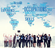 Occupations Careers Community Experience Global Concept Stock Image