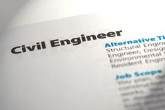 Occupations - Civil Engineer 1 Royalty Free Stock Photos