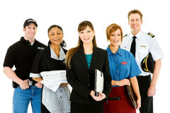 Occupations: Group of Cheerful People in Various Occupations Royalty Free Stock Photo