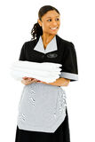 Occupations: Housekeeper Looks to Side Royalty Free Stock Images