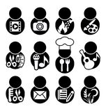 Occupations icon symbol Stock Image