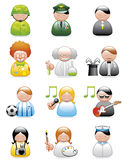Occupations icons Royalty Free Stock Images