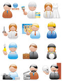 Occupations icons Royalty Free Stock Photography
