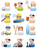 Occupations icons (sports) Stock Photos