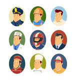 Occupations. Set of vector icons Stock Photo