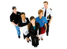 Occupations: Variety of Occupations Standing Together Stock Image