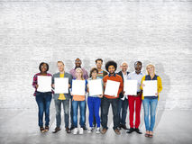 Occupazione allegra casuale Team Teamwork Togetherness di etnia Fotografie Stock